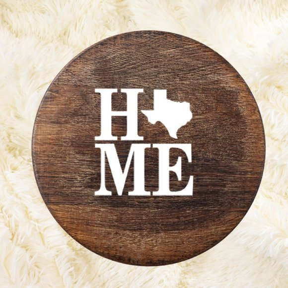Texas home welcome sign